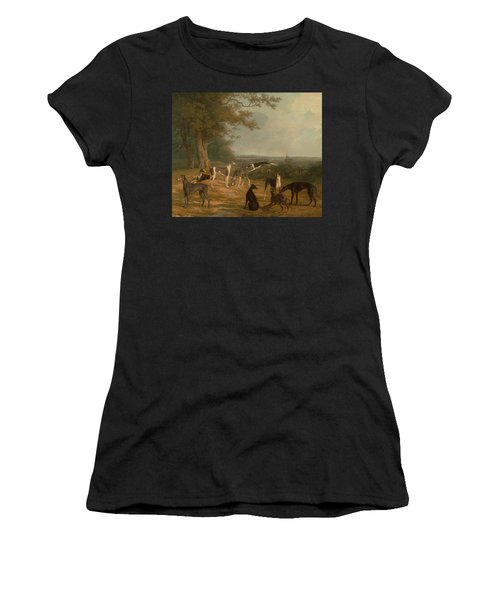 Nine Greyhounds In A Landscape Women's T-Shirt