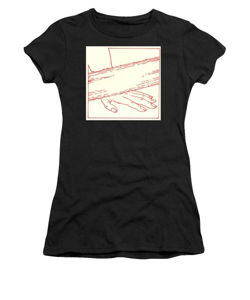 Women's T-Shirt featuring the drawing Ninth Station- Jesus Falls The Third Time by William Hart McNichols