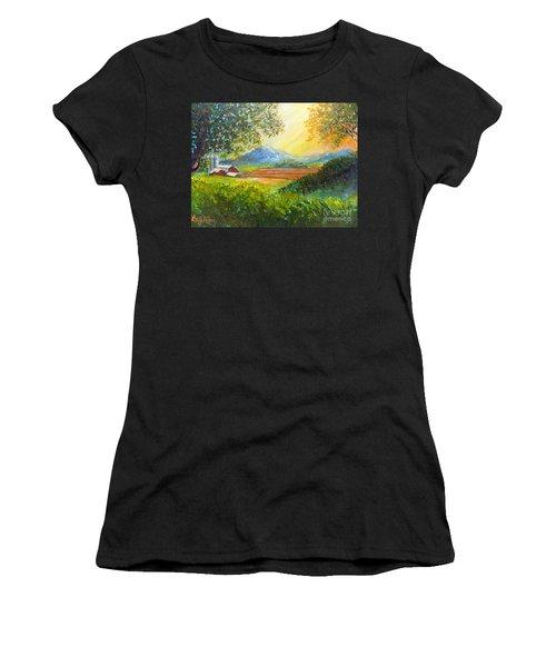 Nixon's Majestic Farm View Women's T-Shirt (Athletic Fit)
