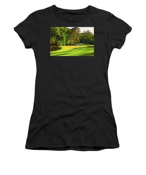 No. 11 White Dogwood 505 Yards Par 4 Women's T-Shirt (Athletic Fit)