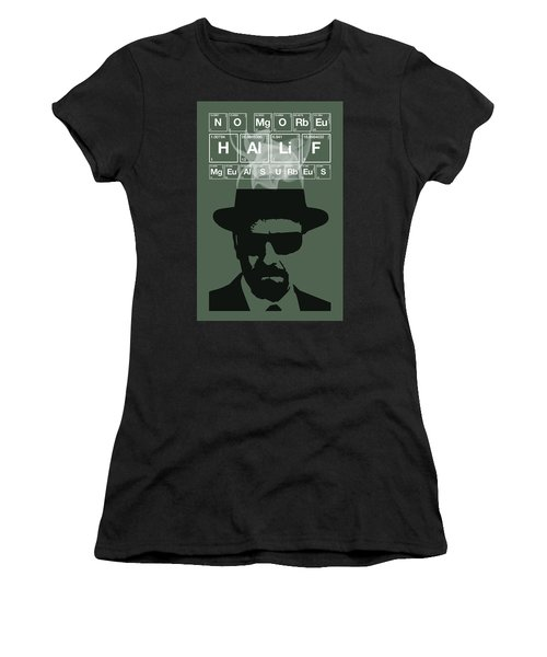 No More Half Measures - Breaking Bad Poster Walter White Quote Women's T-Shirt (Athletic Fit)