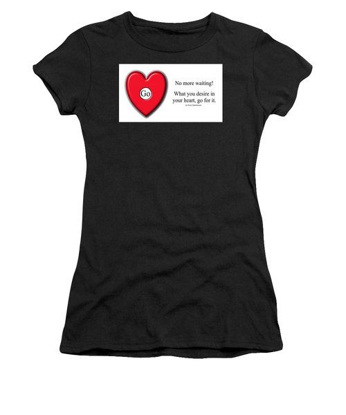 Women's T-Shirt featuring the photograph No More Waiting by Peter Hutchinson