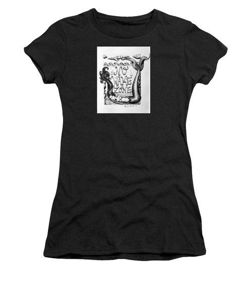 Women's T-Shirt featuring the drawing No Wake Zone, Mermaid by Monique Faella
