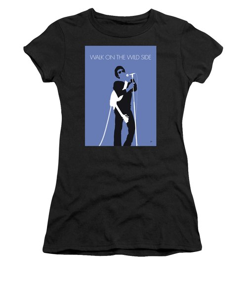 No068 My Lou Reed Minimal Music Poster Women's T-Shirt (Athletic Fit)