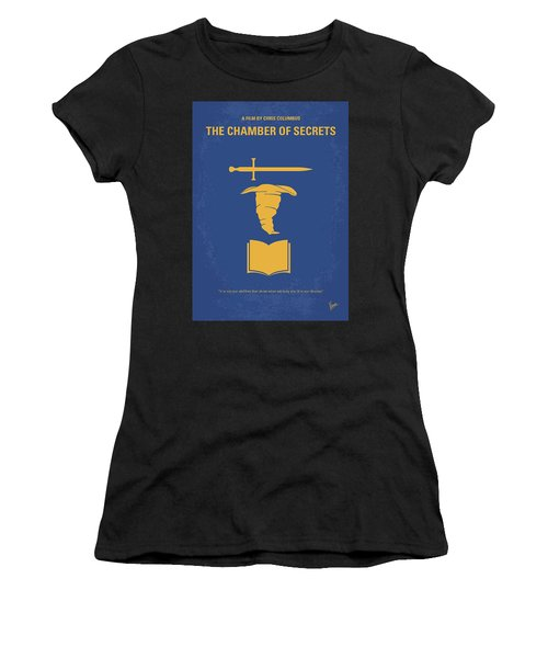 No101-2 My Hp - Chamber Of Secrets Minimal Movie Poster Women's T-Shirt (Athletic Fit)