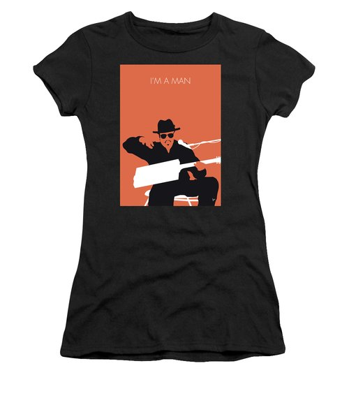 No103 My Bo Diddley Minimal Music Poster Women's T-Shirt (Athletic Fit)