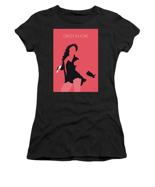 No122 My Beyonce Minimal Music Poster Women's T-Shirt (Athletic Fit)