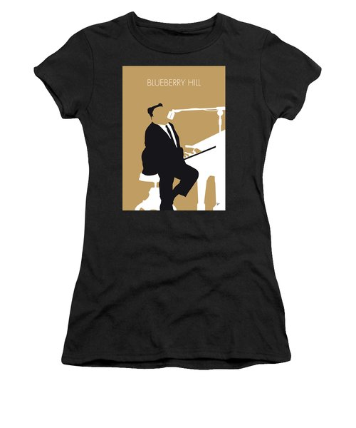 No190 My Fats Domino Minimal Music Poster Women's T-Shirt (Athletic Fit)