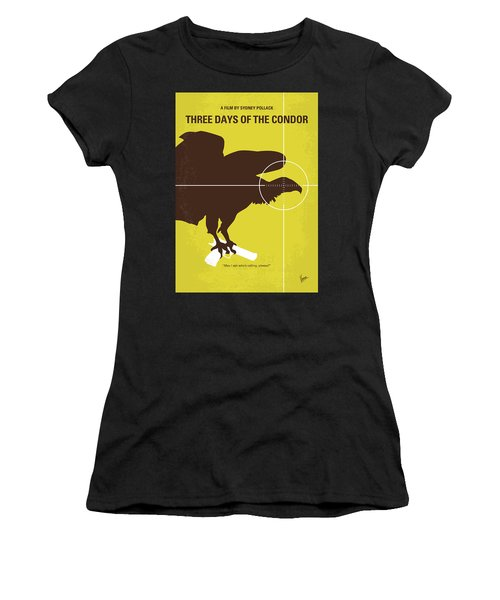 No659 My Three Days Of The Condor Minimal Movie Poster Women's T-Shirt (Athletic Fit)