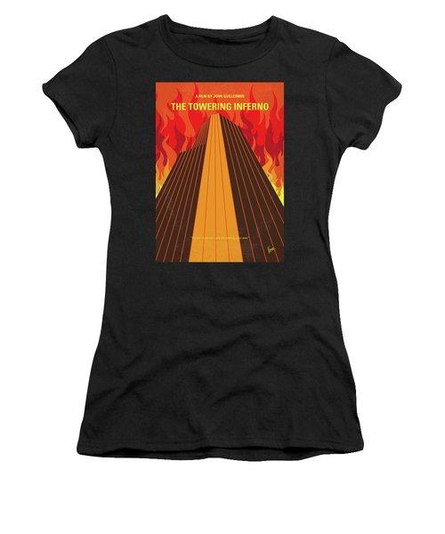 No665 My The Towering Inferno Minimal Movie Poster Women's T-Shirt