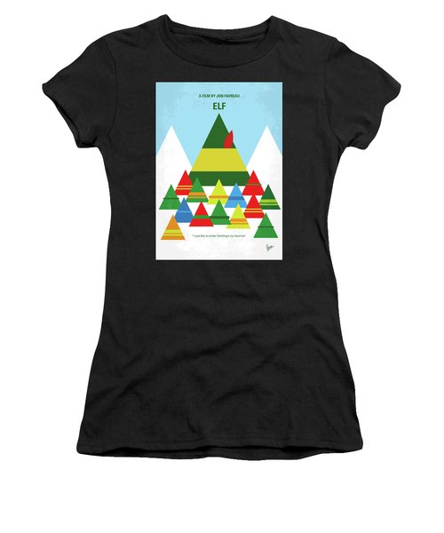 No699 My Elf Minimal Movie Poster Women's T-Shirt