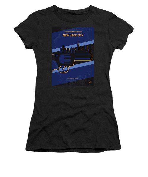 Women's T-Shirt (Junior Cut) featuring the digital art No762 My New Jack City Minimal Movie Poster by Chungkong Art