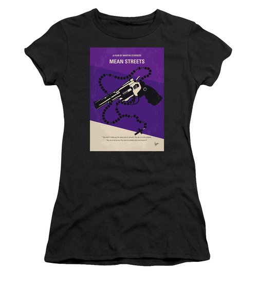 No823 My Mean Streets Minimal Movie Poster Women's T-Shirt