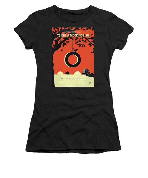 No844 My To Kill A Mockingbird Minimal Movie Poster Women's T-Shirt (Athletic Fit)
