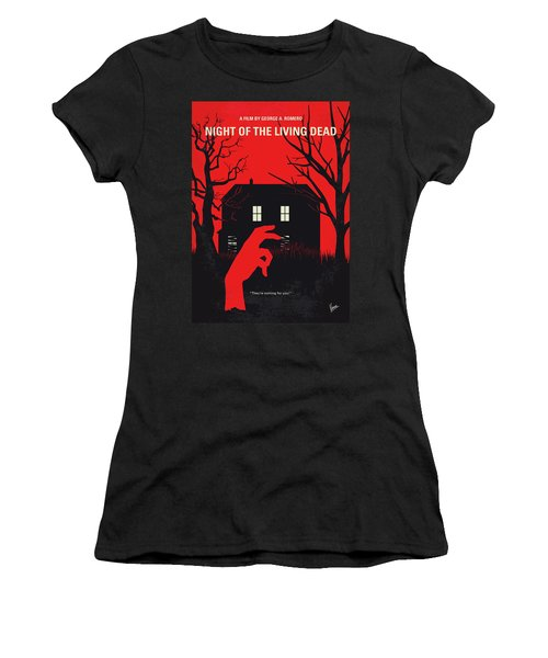No935 My Night Of The Living Dead Minimal Movie Poster Women's T-Shirt