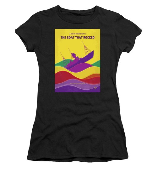 No961 My The Boat That Rocked Minimal Movie Poster Women's T-Shirt