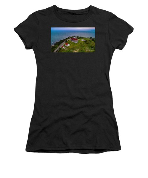 Nobska Point Lighthouse Women's T-Shirt (Athletic Fit)
