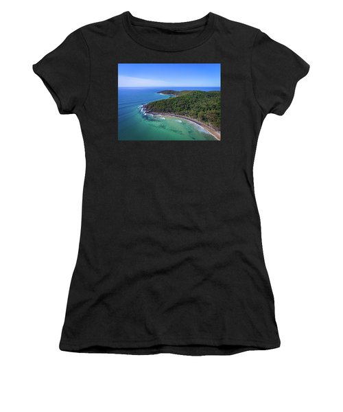 Women's T-Shirt (Athletic Fit) featuring the photograph Noosa National Park Coastal Aerial View by Keiran Lusk