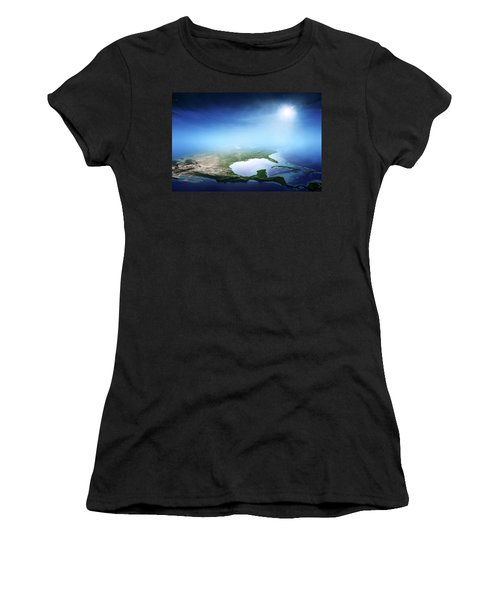 North America Sunrise Aerial View Women's T-Shirt