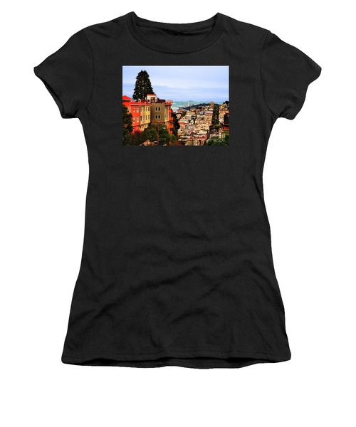 Looking Toward North Beach Women's T-Shirt (Athletic Fit)