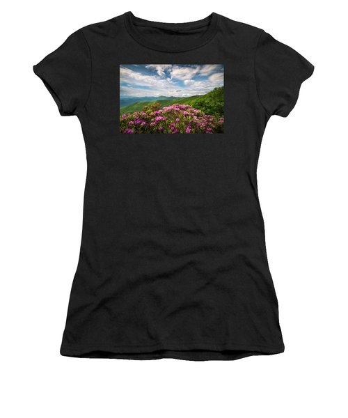 North Carolina Spring Flowers Mountain Landscape Blue Ridge Parkway Asheville Nc Women's T-Shirt (Athletic Fit)