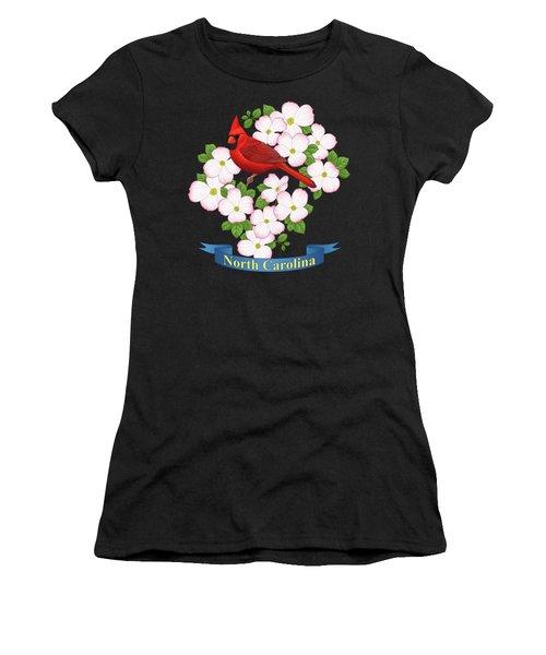North Carolina State Bird And Flower Women's T-Shirt