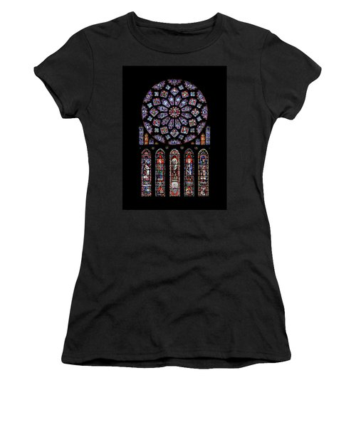 North Rose Window Of Chartres Cathedral Women's T-Shirt (Athletic Fit)