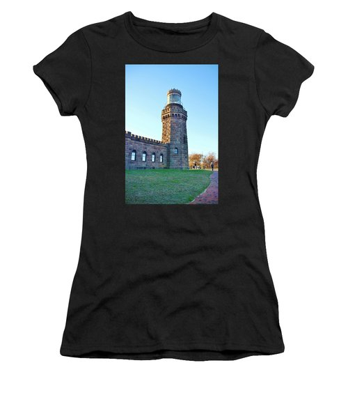 North Tower Twin Lights Women's T-Shirt (Athletic Fit)