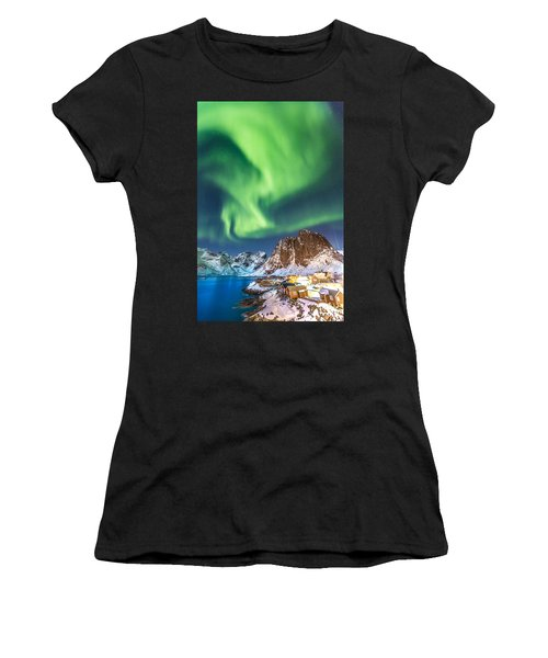 Northern Lights In Hamnoy Women's T-Shirt