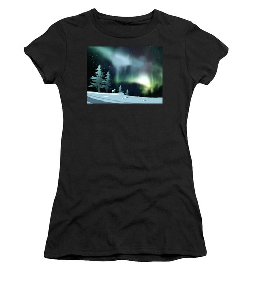 Northern Lights Women's T-Shirt (Athletic Fit)