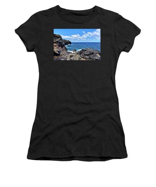 Northern Maui Rocky Coastline Women's T-Shirt