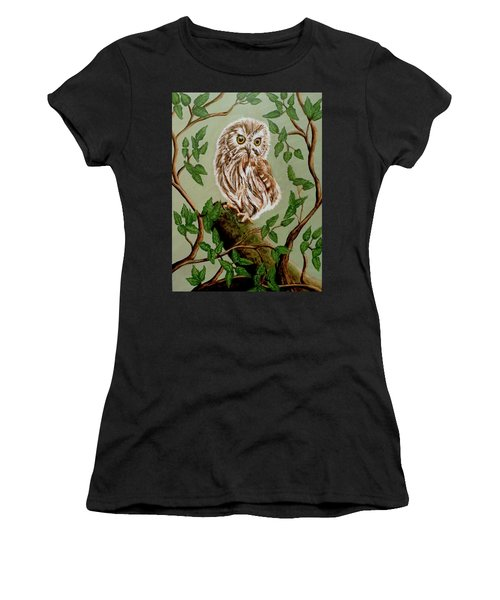 Northern Saw-whet Owl Women's T-Shirt (Athletic Fit)