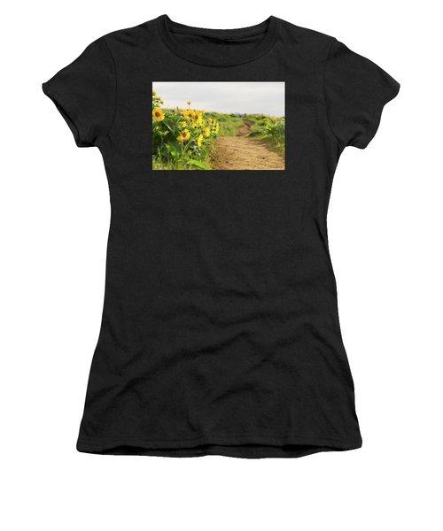 Northwest Balsamroot On Mosier Plateau Women's T-Shirt