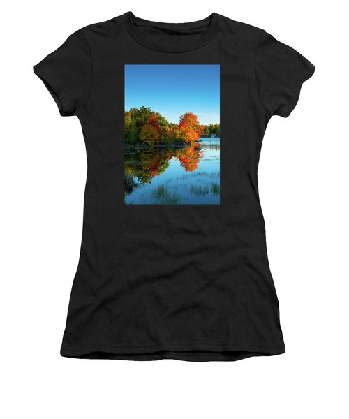 Northwood Lake Autumn Women's T-Shirt (Athletic Fit)