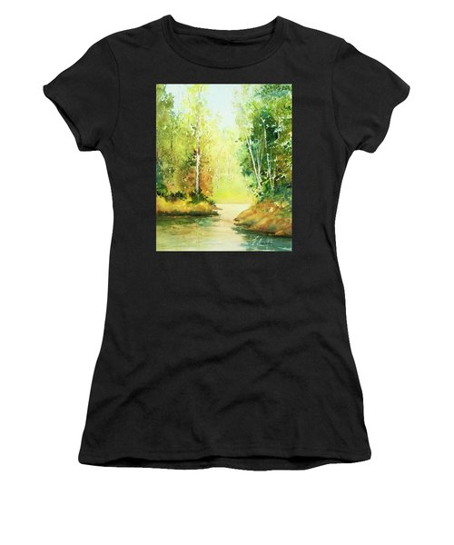 Northwoods Scene Women's T-Shirt (Athletic Fit)