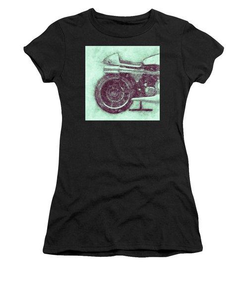 Norton Manx 3 - Norton Motorcycles - 1947 - Vintage Motorcycle Poster - Automotive Art Women's T-Shirt