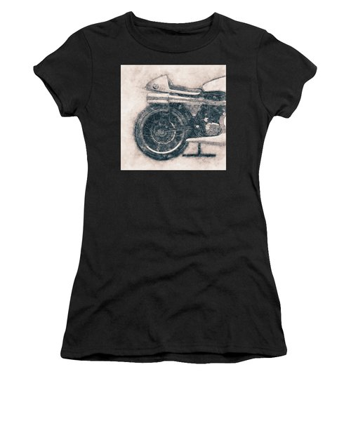 Norton Manx - Norton Motorcycles - 1947 - Vintage Motorcycle Poster - Automotive Art Women's T-Shirt