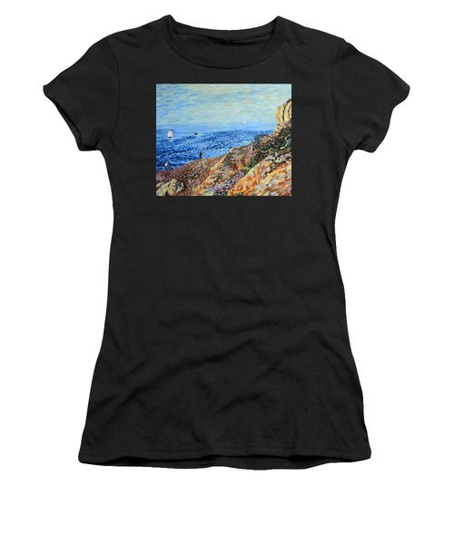 November Day At Point Lobos San Francisco Women's T-Shirt
