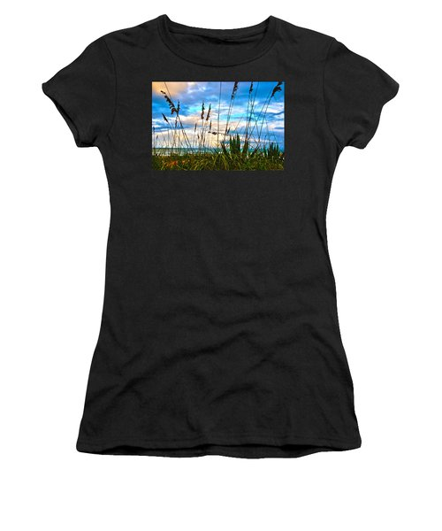 November Day At The Beach In Florida Women's T-Shirt (Athletic Fit)