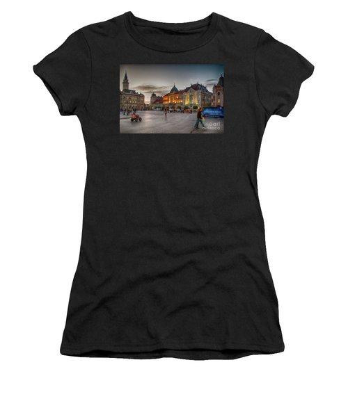 Novi Sad Liberty Square At Twilight Women's T-Shirt (Athletic Fit)