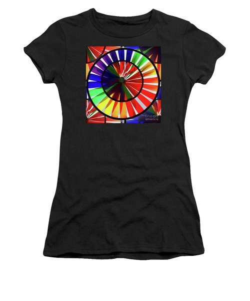 Women's T-Shirt featuring the photograph noWind wheel by Luc Van de Steeg