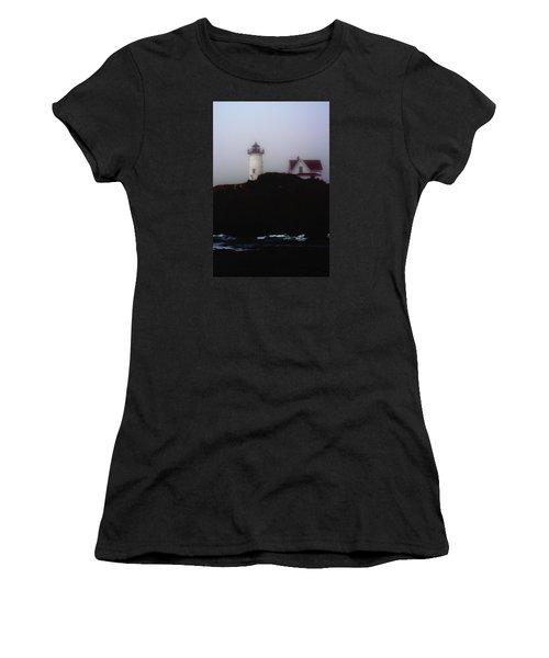 Nubble Light House Women's T-Shirt (Athletic Fit)
