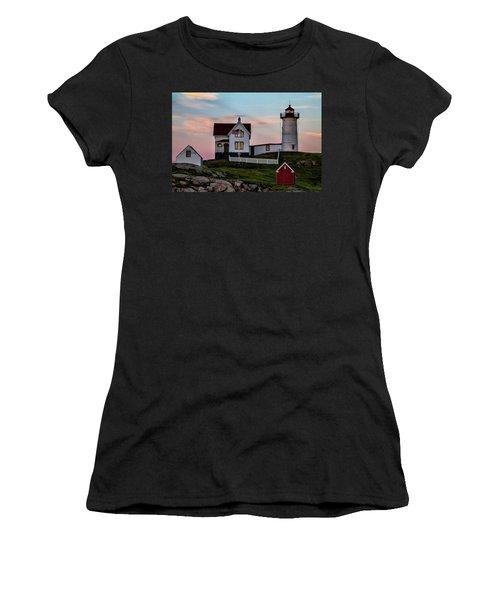 Nubble Lighthouse At Dusk  Women's T-Shirt