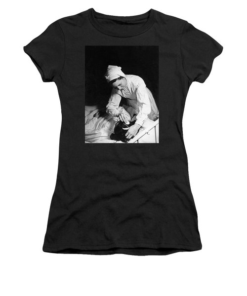 Nurse Tending To A Patient Women's T-Shirt