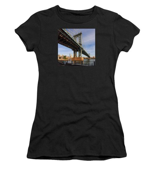 Women's T-Shirt (Junior Cut) featuring the photograph Ny Steel by Anthony Fields