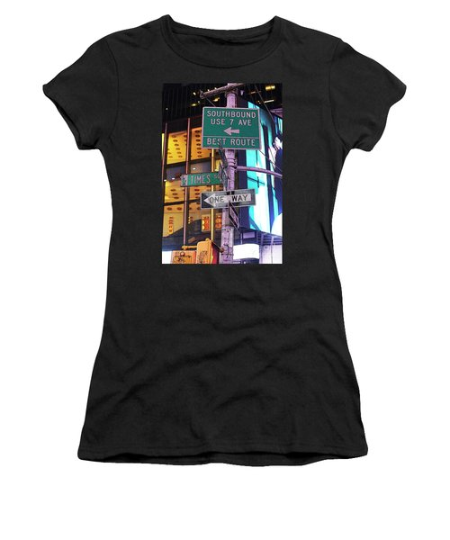 Nyc Street Sign Women's T-Shirt (Athletic Fit)