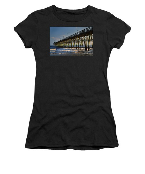 Oak Island Pier 2015 Women's T-Shirt (Athletic Fit)