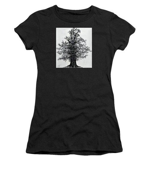 Oak Tree Women's T-Shirt (Athletic Fit)