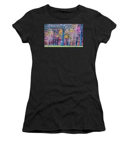Oak Trees At Fall Women's T-Shirt (Athletic Fit)