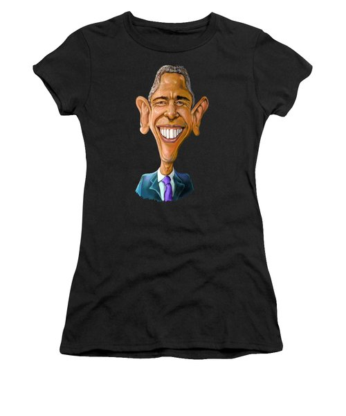 Obama Caricature Women's T-Shirt